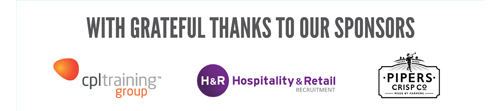With grateful thanks to our sponsors: Pipers Crisps, H&R Recruitment and CPL Training Group